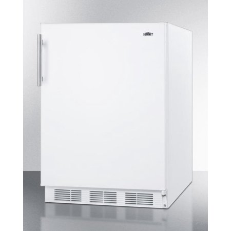 CT661 24 Top Freezer Compact Refrigerator with 5.1 cu. ft. Capacity  Zero Degree Freezer  Cycle Defrost  Dual Evaporator Cooling  Adjustable Glass Shelves  Wine Shelf and Interior Light in White