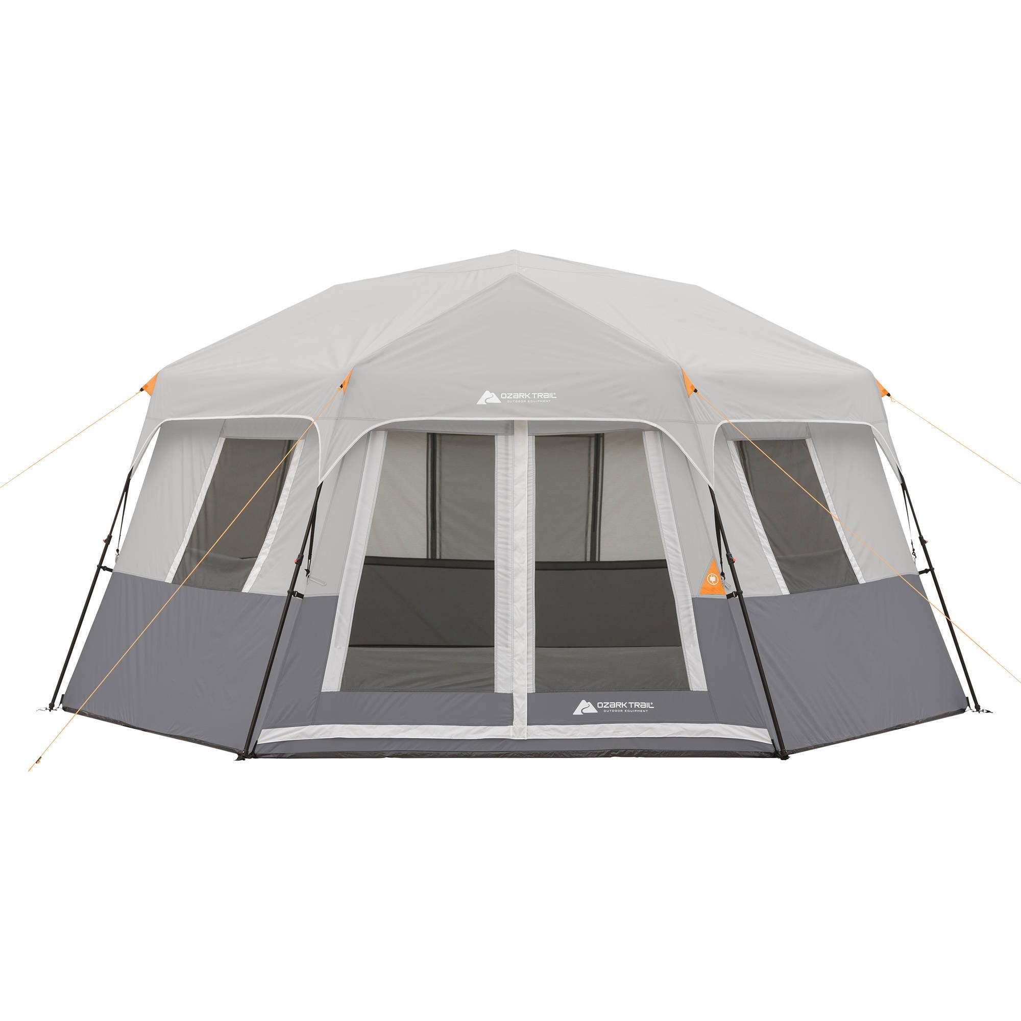 8 Person Instant Cabin Tent : Ozark trail person instant hexagon cabin tent ebay