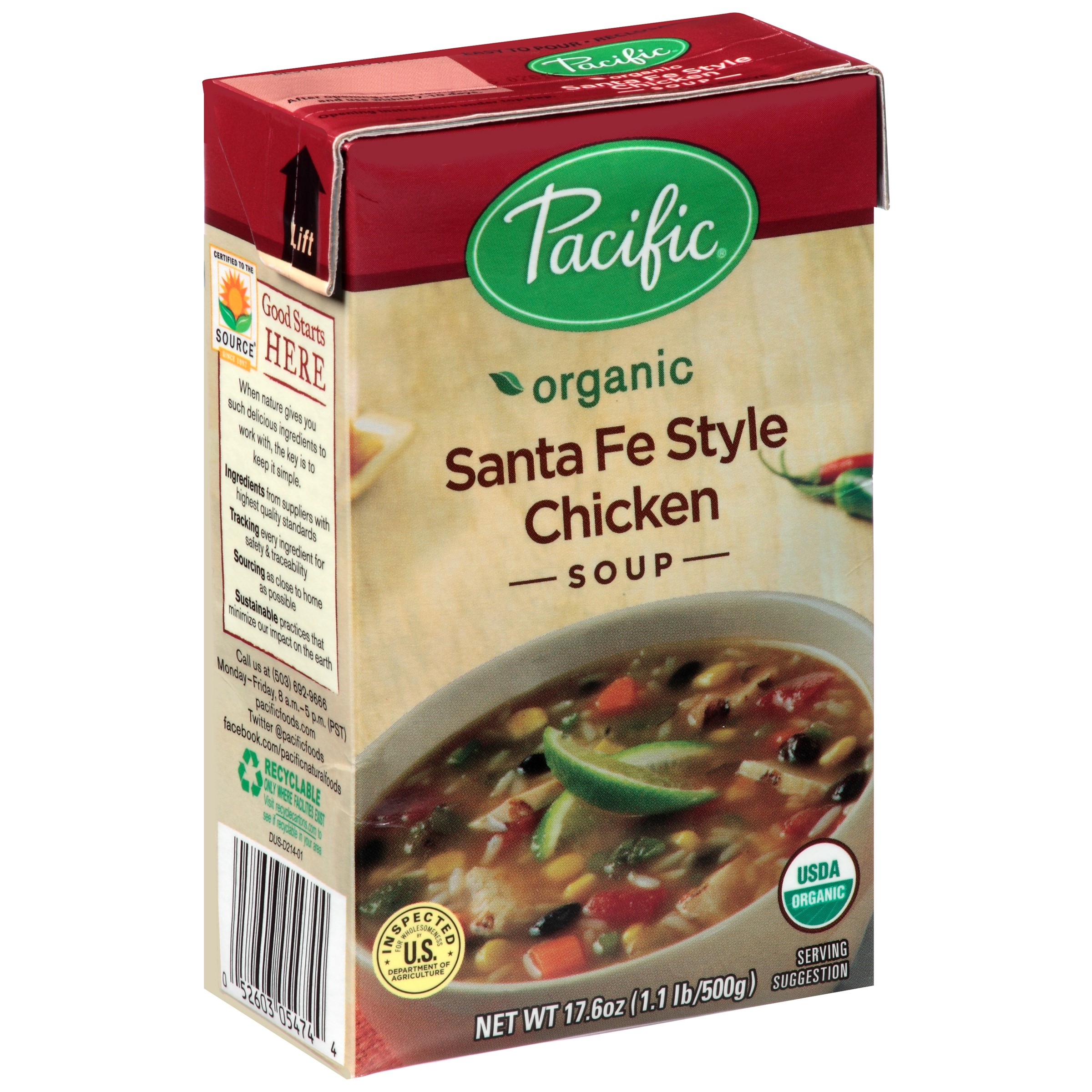 (2 Pack) Pacific Foods Organic Santa Fe Style Chicken Soup, 17.6-Ounces