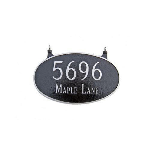 Montague Metal Products Inc. Two Sided Large Oval Address Plaque