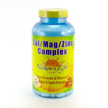 - Cal Mag Zinc Complex By Nature's Life - 250  Tablets