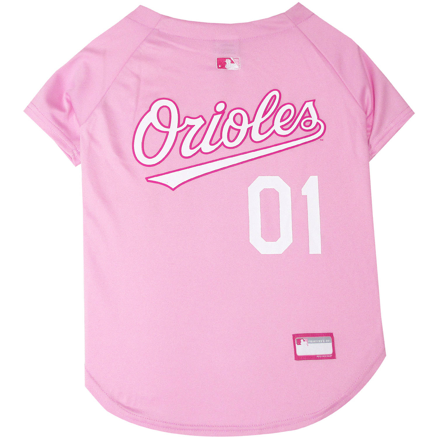 Pets First MLB Baltimore Orioles Pet Pink Jersey, X - Small