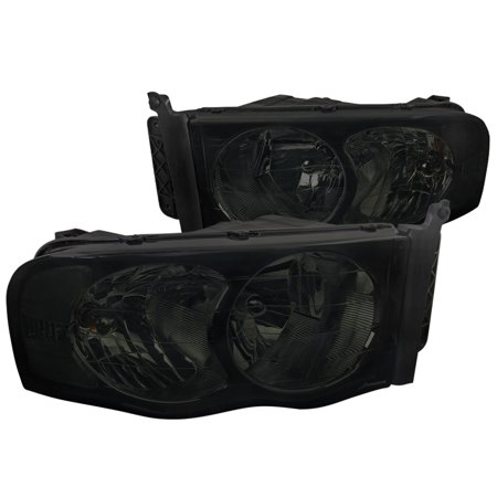 Lumina Euro Headlights - Spec-D Tuning For 2002-2005 Dodge Ram 1500 2500 3500 Euro Replacement Smoke Head Lights Lamps Pair 2002 2003 2004 2005