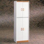 White Deluxe Four Door Pantry Cabinet