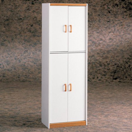 "Ameriwood Home Hannah 72"" Kitchen Pantry Cabinet, White"