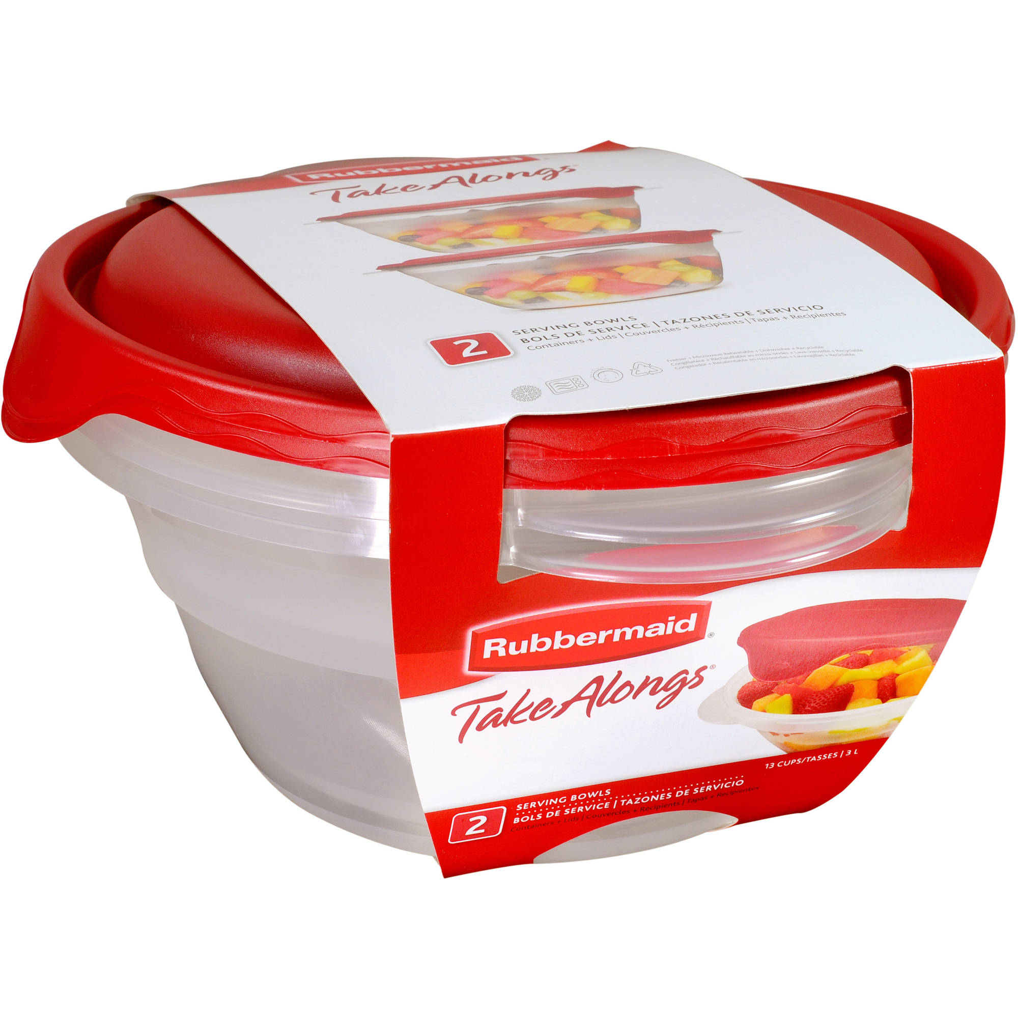 Rubbermaid TakeAlongs Serving Bowls, 2 count
