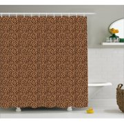 Leopard Print Shower Curtain Texture Illustration Exotic African Fauna Inspired Pattern Fabric Bathroom
