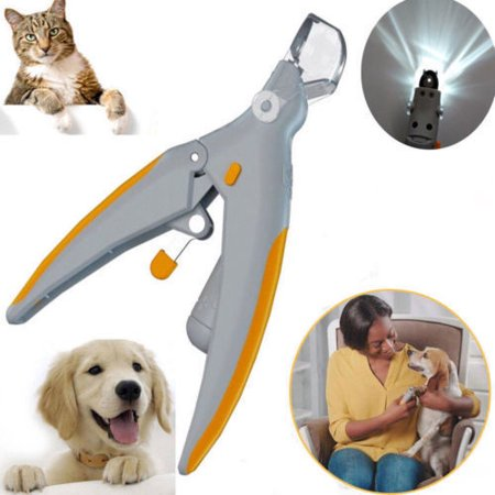 Pets Nail Trimmer Care Nail Scissors Clippers Grinders for Cat Dog Claw Tool With LED light Magnifier - Halloween Cat Nail Designs