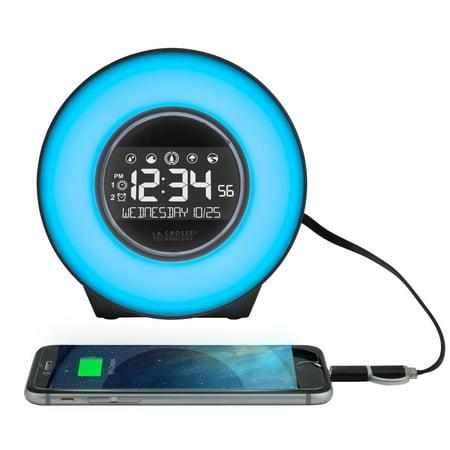 La Crosse Technology C85135 Color Mood Light Alarm Clock with Nature