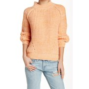 Valette NEW Orange Women's Size Small S Funnel Neck Pullover Sweater
