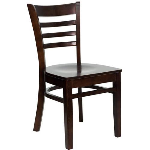 Ladder Back Chairs - Set of 2, Walnut