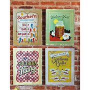 Cape Craftsmen Southern Charm Burplap by Anderson Design Group 4 Piece Graphic Art on Canvas Set