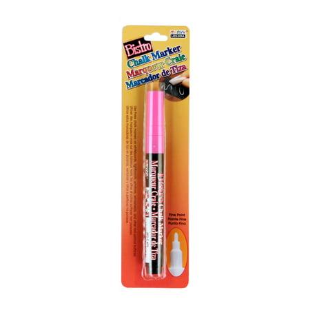 Bistro Fine Tip Chalk Marker, Fluorescent Pink, 1 Ct
