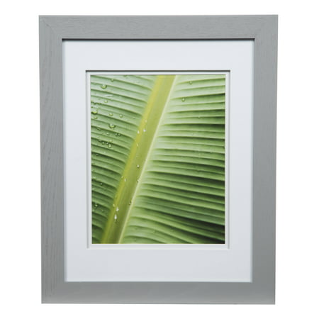 11X14 WIDE GREY W/ WHITE DOUBLE MAT TO 8X10 FRAME