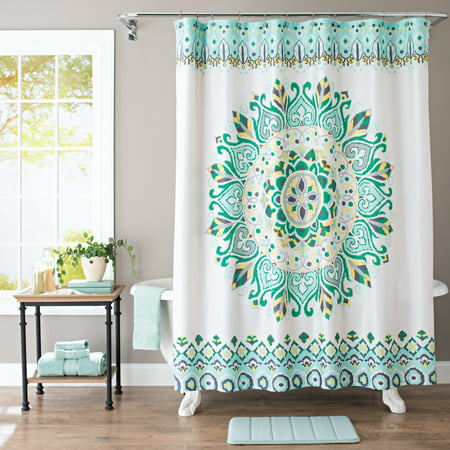 Better Homes & Gardens Medallion Fabric Shower Curtain, 1