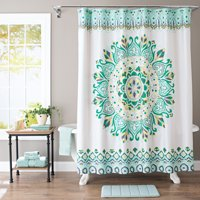 Deals on Better Homes & Gardens Medallion Fabric Shower Curtain