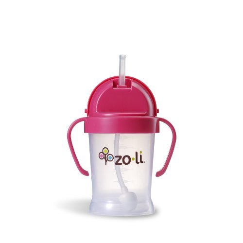 ZoLi BOT Straw Sippy Cup Pink 6 oz by Zoli