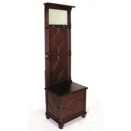 Wayborn simpatico hall tree in brown for Furniture 63385