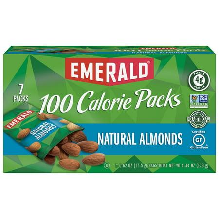 4e7f7e5faa5 Emerald Nuts Natural Almonds, 100 Calorie Packs, 7 Ct