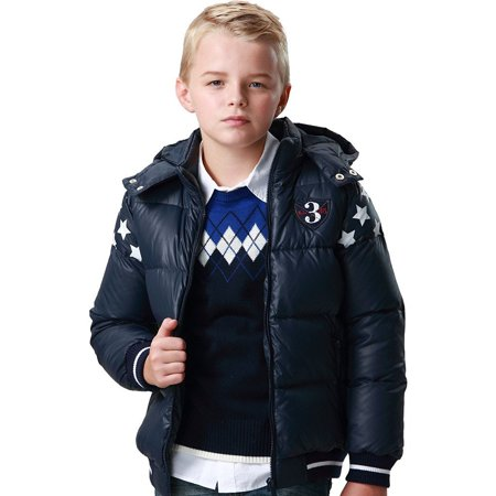 Leo&Lily Big Boys Down Padded Puffer Jacket with Hood