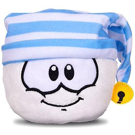 Club Penguin Series 11 White Puffle Plush [Striped Hat]