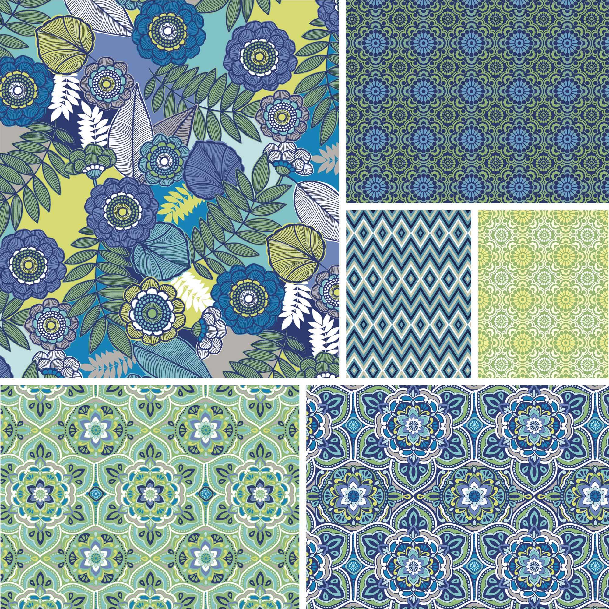 """David Textiles Salt Air Collection 44"""" Quilting Cotton Fabric By The Yard"""