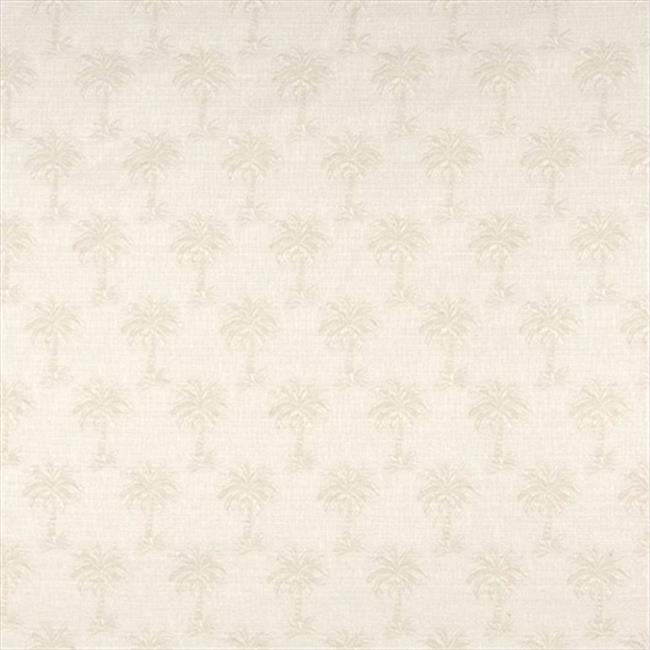 Designer Fabrics A077 54 in. Wide Beige Tropical Textured Palm Trees Upholstery Fabric