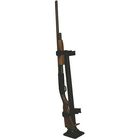 RUGGED GEAR FLOOR MOUNT GUN RACK BLACK METAL UNIVERSAL