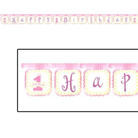 1st Birthday 'Little Princess' Girl Happy Birthday Banner (1ct)](Happy 1st Birthday Banner)