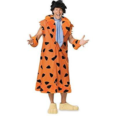 the flintstones fred costume, orange/black, x-large