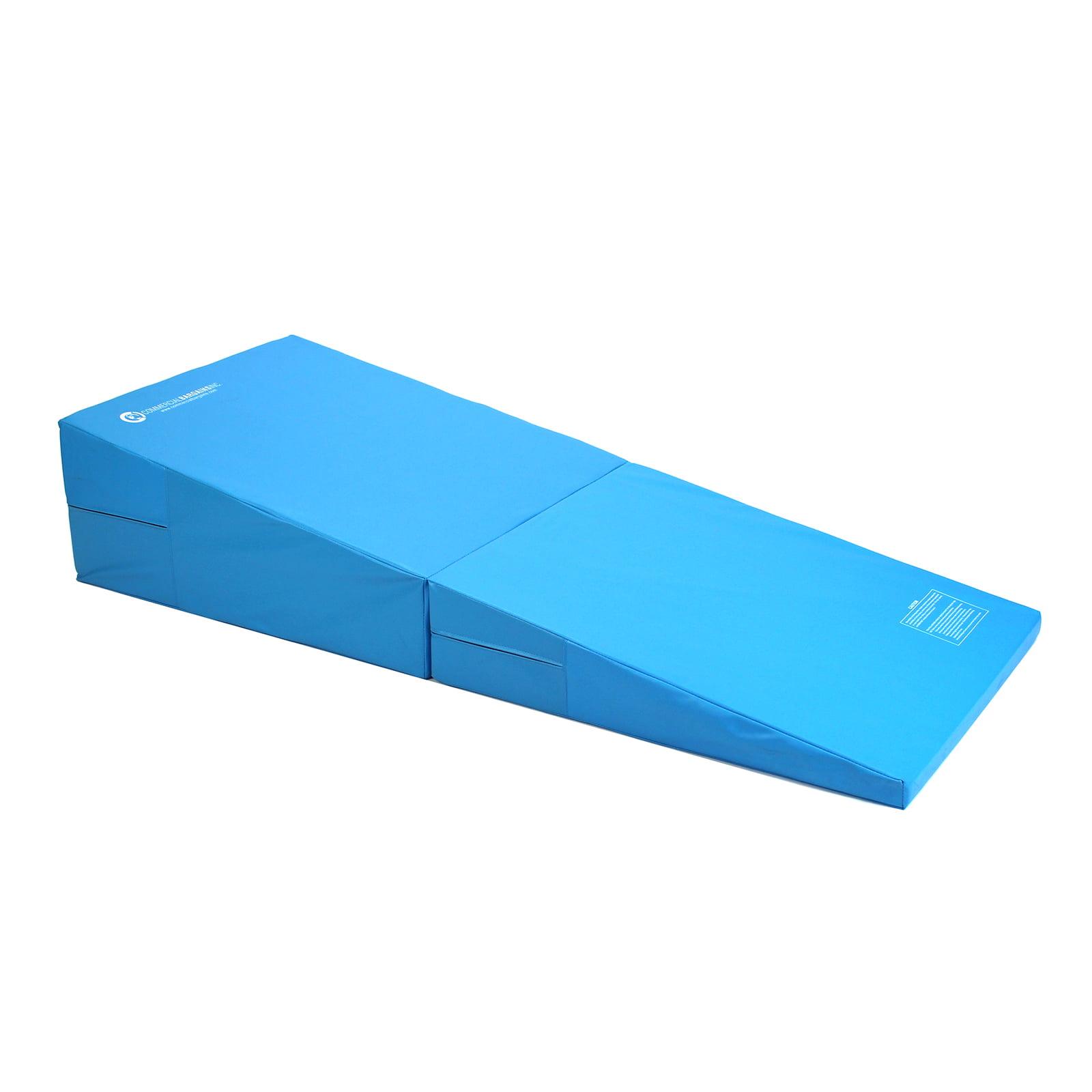 Blue Folding Incline Gymnastics Mat Training Foam Triangle