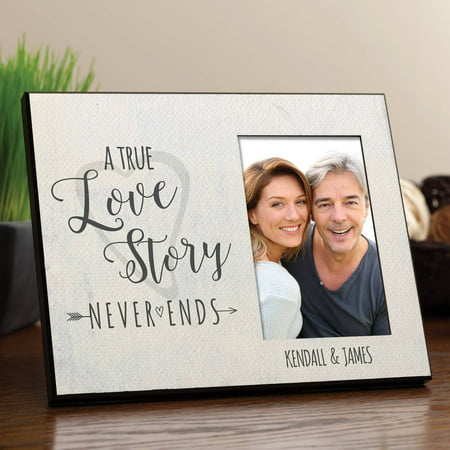 A True Love Story Never Ends Personalized Frame - Walmart.com