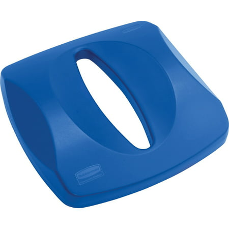 Recycle Center - Rubbermaid Commercial, RCP269000, Untouchable Paper Recycling Centers Lid, 1 Each, Blue