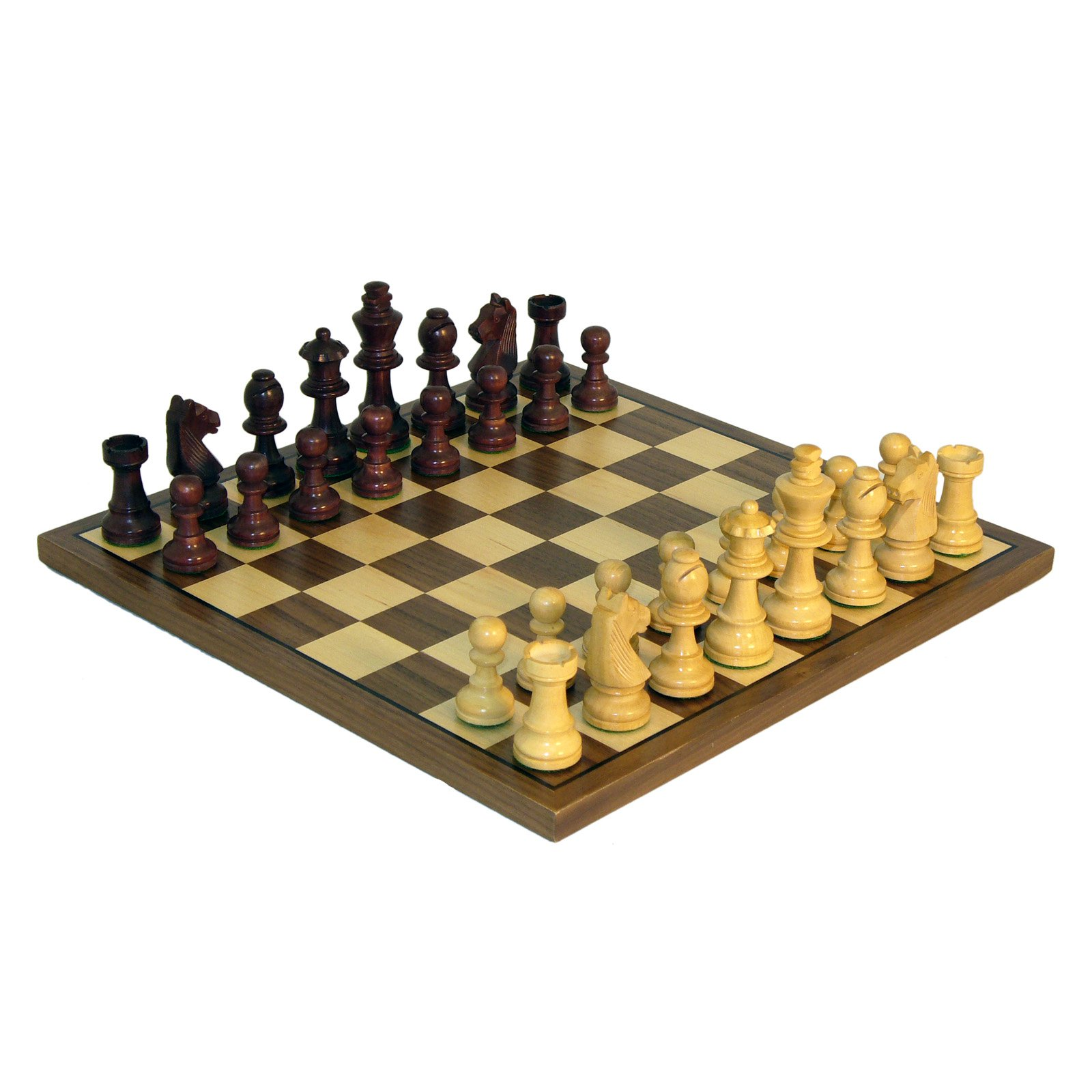 German Knight Chess Set Walnut Stain by World Wise Imports