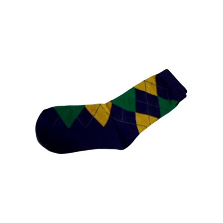 Mardi Gras Purple Green Gold Argyle Children's Crew Socks One Size](Mardi Gras Socks)