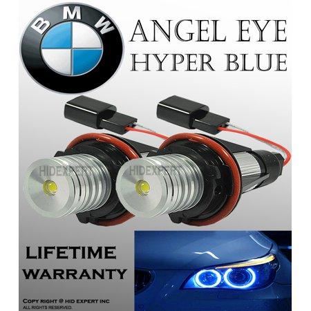 Screw Base E39 Lamp Bulb - BMW E39 E53 E60 E61 E63 E64 E65 E66 E87 BLUE LED Angel Eyes Halo Light Bulbs