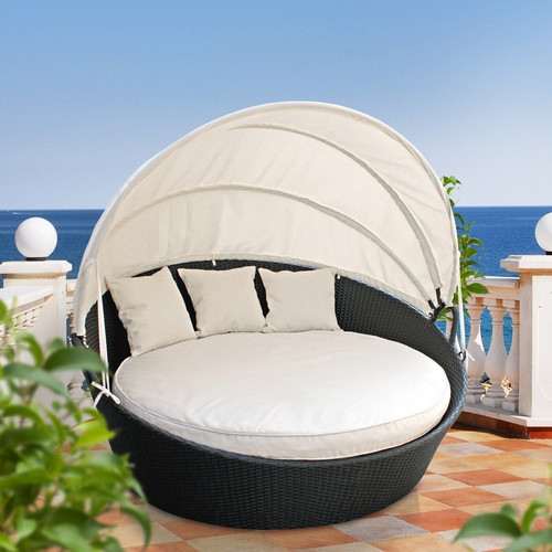 Modway Snooze Canopy Outdoor Patio Daybed With Cushion
