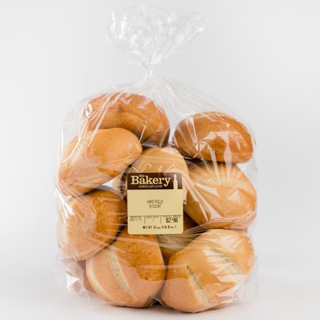 Wal Mart Bakery 6 Count Hard Rolls