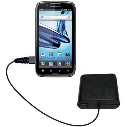 Portable Emergency AA Battery Charger Extender suitable for the Motorola Edison - with Gomadic Brand TipExchange