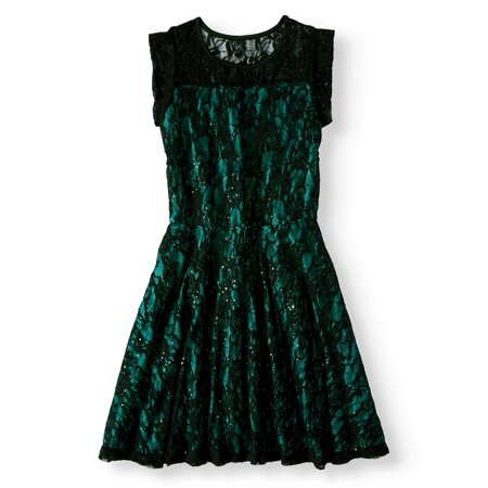 Btween Lace Cap Sleeve Holiday Dress (Big Girls)