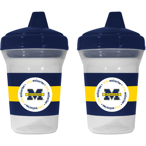 Baby Fanatic Michigan Wolverines 2-Pack Sippy Cup, BPA-Free