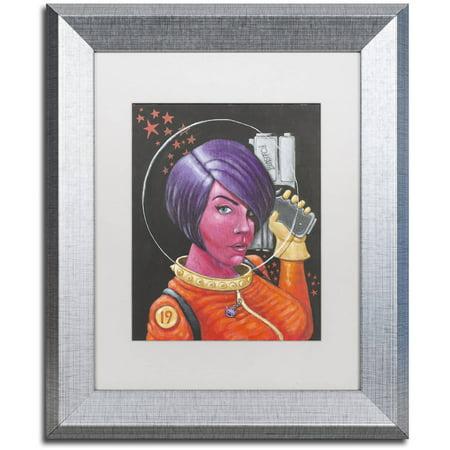Trademark Fine Art 'Josie-Jupiter' Canvas Art by Craig Snodgrass, White Matte, Silver (Jupiter Matte)