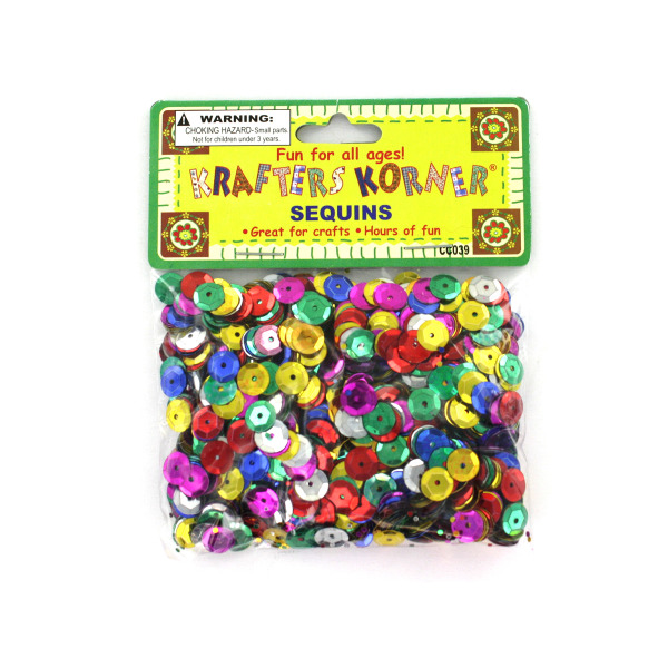 Round Colored Sequins (Pack Of 24)