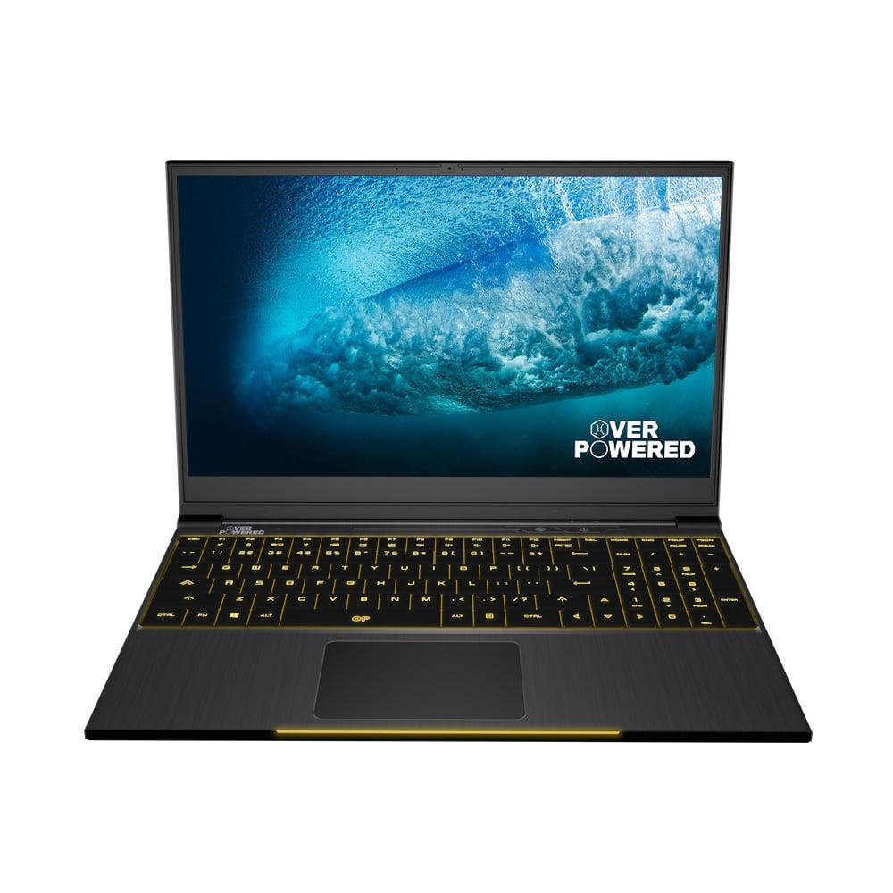 OVERPOWERED Gaming Laptop 15, 2 Year Warranty, 144Hz, Intel i5-8300H, NVIDIA GeForce GTX 1050, Mechanical LED Keyboard, 128 SSD, 1TB HDD, 8GB RAM, Windows 10