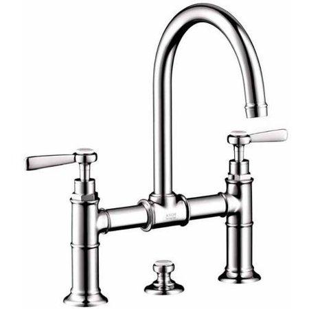 Handle Widespread Bridge Faucet - Hansgrohe Axor 16511821 Montreux Bathroom Faucet Widespread Faucet with Lever Handles, Various Colors