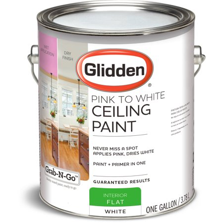glidden ceiling paint grab n go pink to white flat
