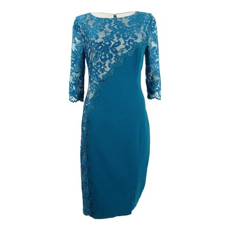 JAX Women's Lace-Trim Sheath Dress