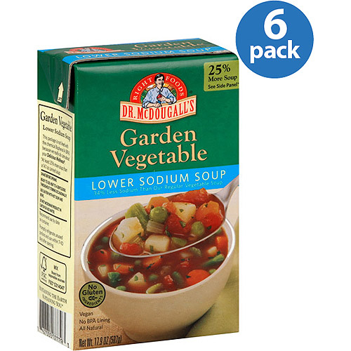 Dr. McDougall's Lower Sodium Garden Vegetable Soup, 17.9 oz, (Pack of 6) by Generic