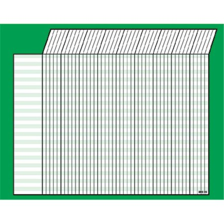 Horizontal Jumbo Incentive Charts - Inc.  Incentive Chart Horizontal Green