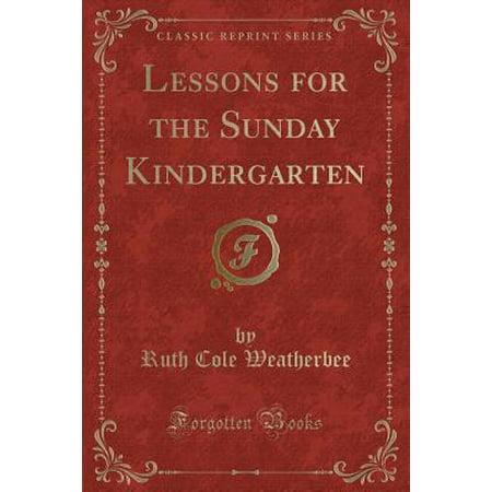Lessons for the Sunday Kindergarten (Classic - Kindergarten Art Lesson Halloween
